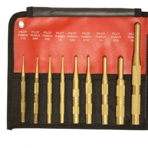 9 Piece Brass Pilot Punch Set SAE