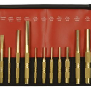 12 Piece Brass Punch and Scraper Set Metric