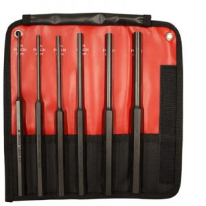 6 Piece Long Pin Punch Set Metric