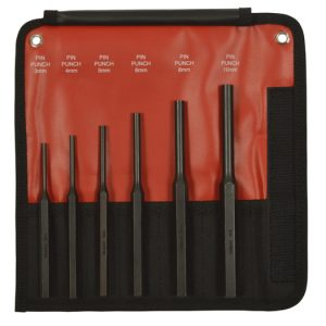 6 Piece Pin Punch Set Metric
