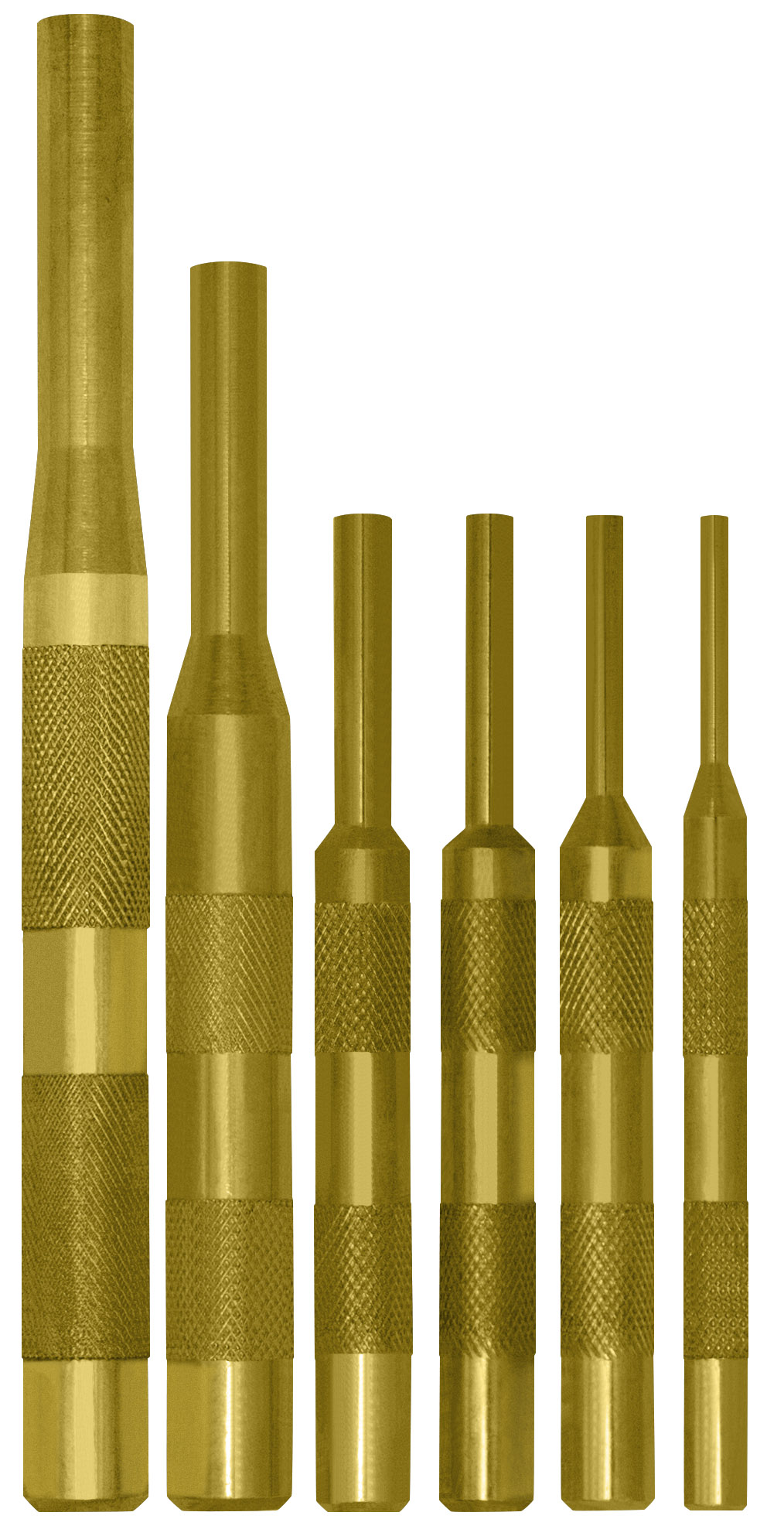 1//8-5//16 Brass Pin Drive Punch Set in a Pouch SWANLAKE 8-Piece Brass Pin Punch Set