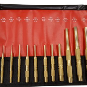 12 Piece Brass Pin Punch Set SAE