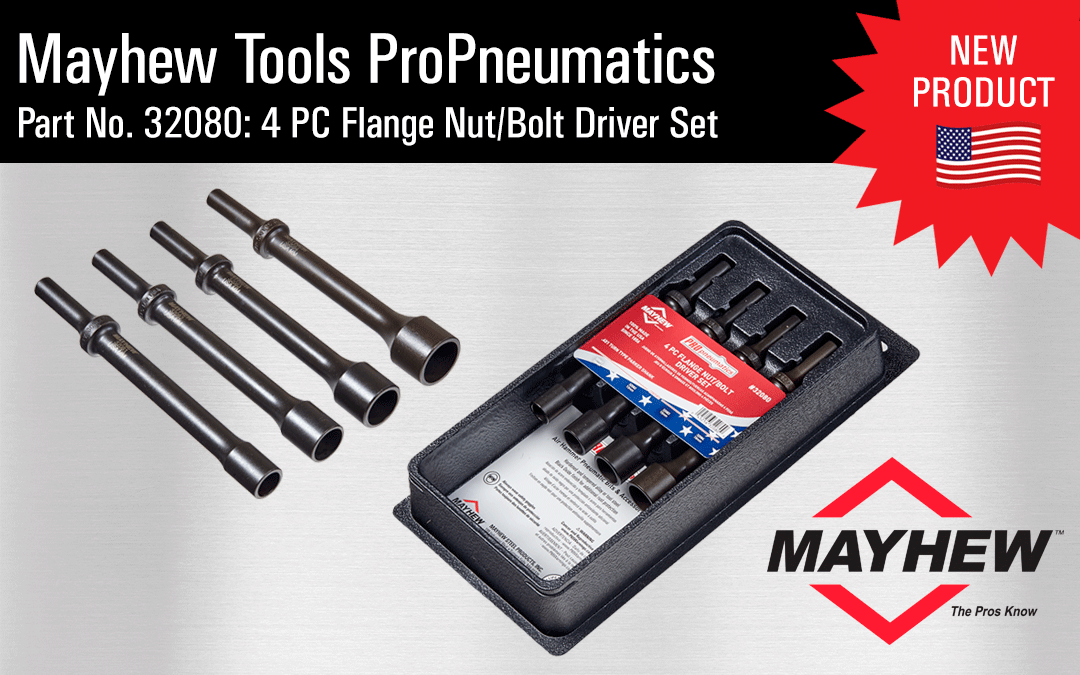 Mayhew Tool Flange Nut // Bolt Driver Tools Made in the USA Air Hammer Bits