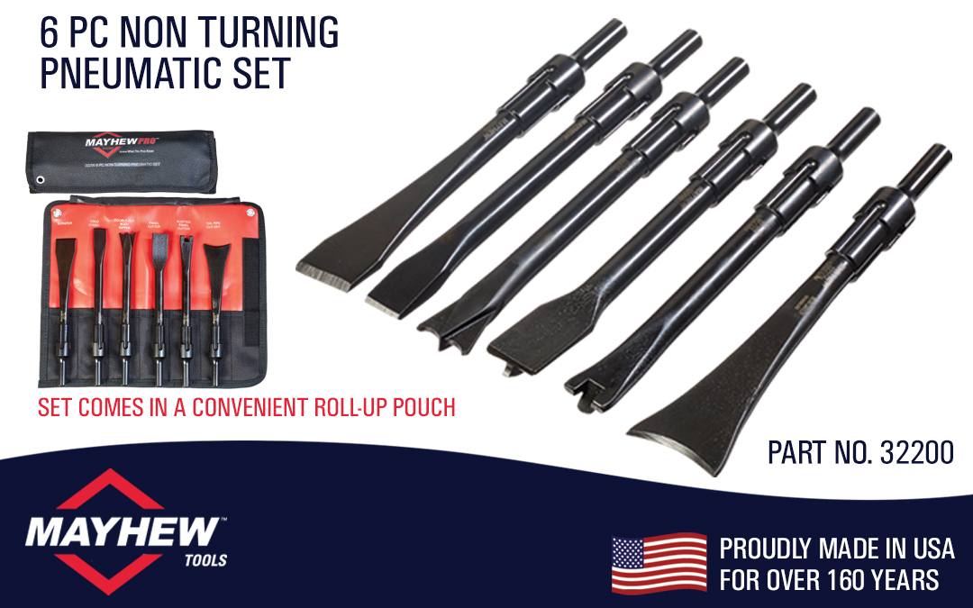 Mayhew™ Introduces New 6 Piece Non-Turning Pneumatic Tool Set