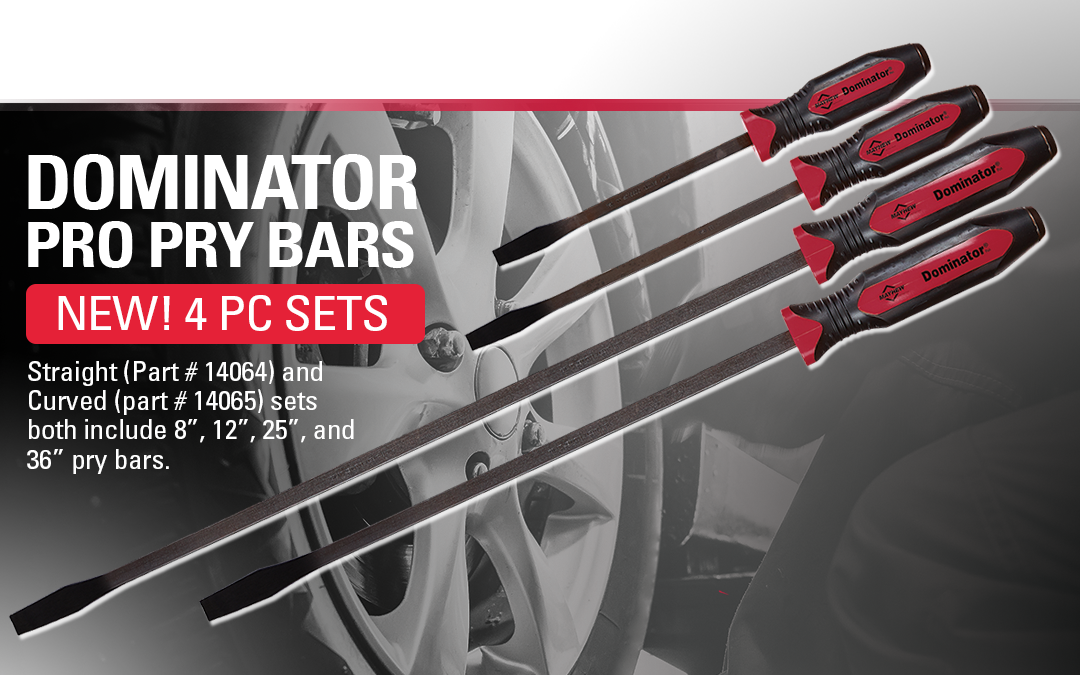 Mayhew™ Introduces Two New 4 Piece Dominator® Pro Pry Bar Sets