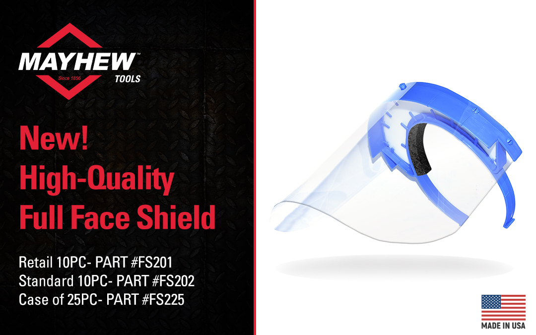 Mayhew™ Broadens Manufacturing Operations to Include Full Face Shield Production