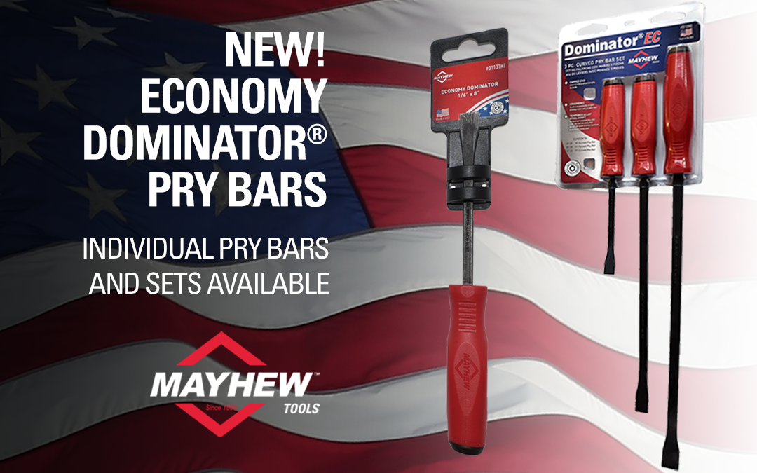 Mayhew™ Tools Extends Dominator® Pry Bar Product Line with the Addition of New Single Composite, Ergonomic Handle Pry Bars
