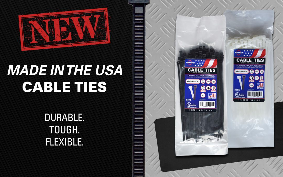 Mayhew Tools Launches New Line of Made in the U.S.A. Cable Ties