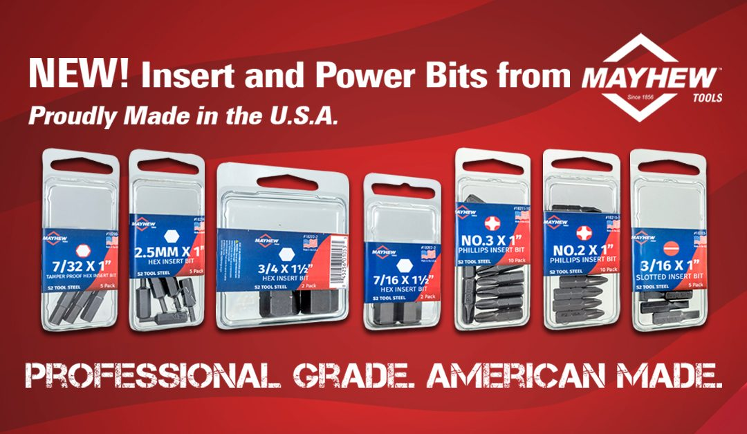 Mayhew Tools Introduces New Made in the U.S.A. Insert and Power Bit Product Lines